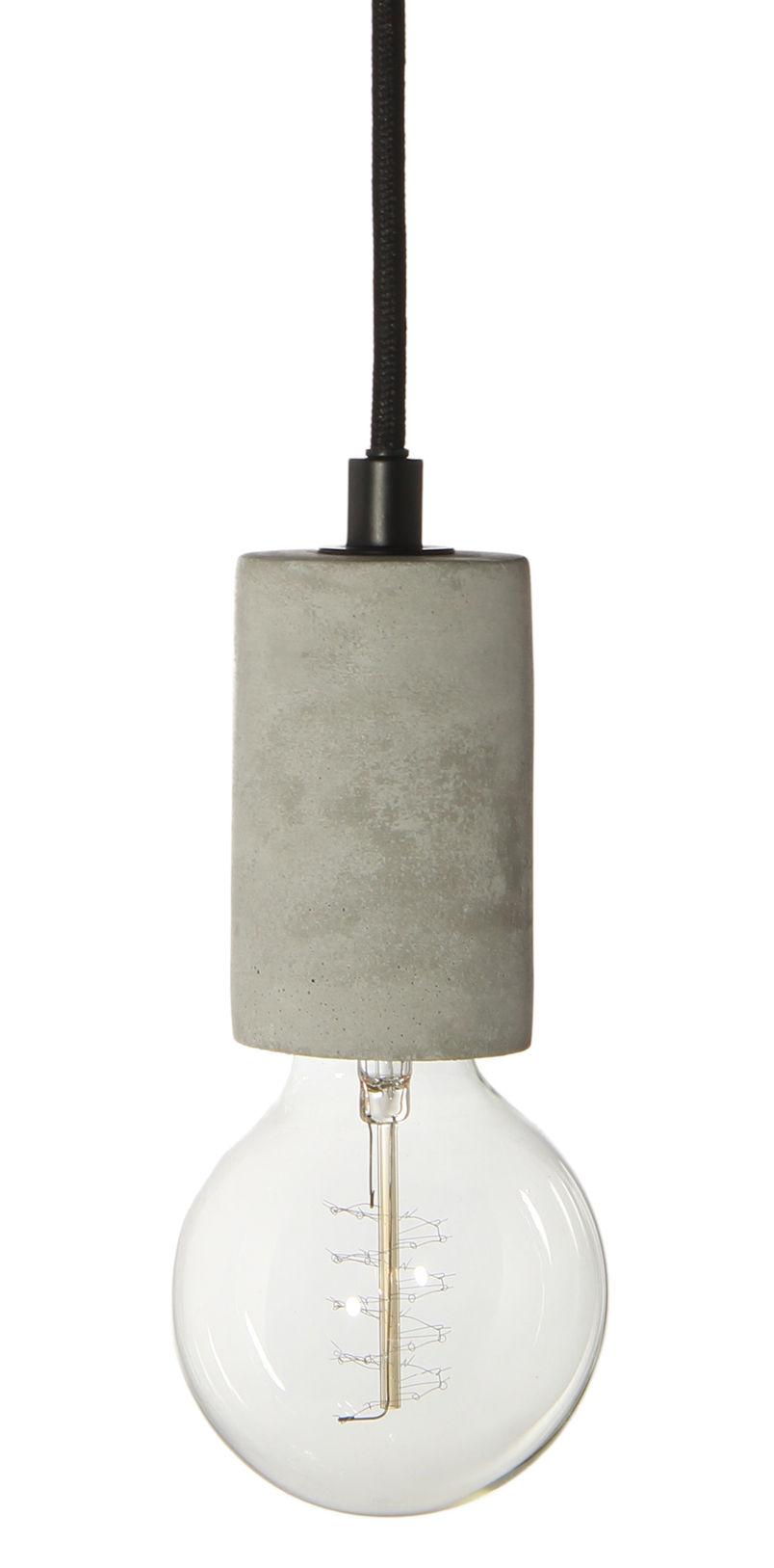 Luminaire - Suspensions - Suspension Bristol / Béton - Frandsen - Béton / Câble noir - Béton, Tissu