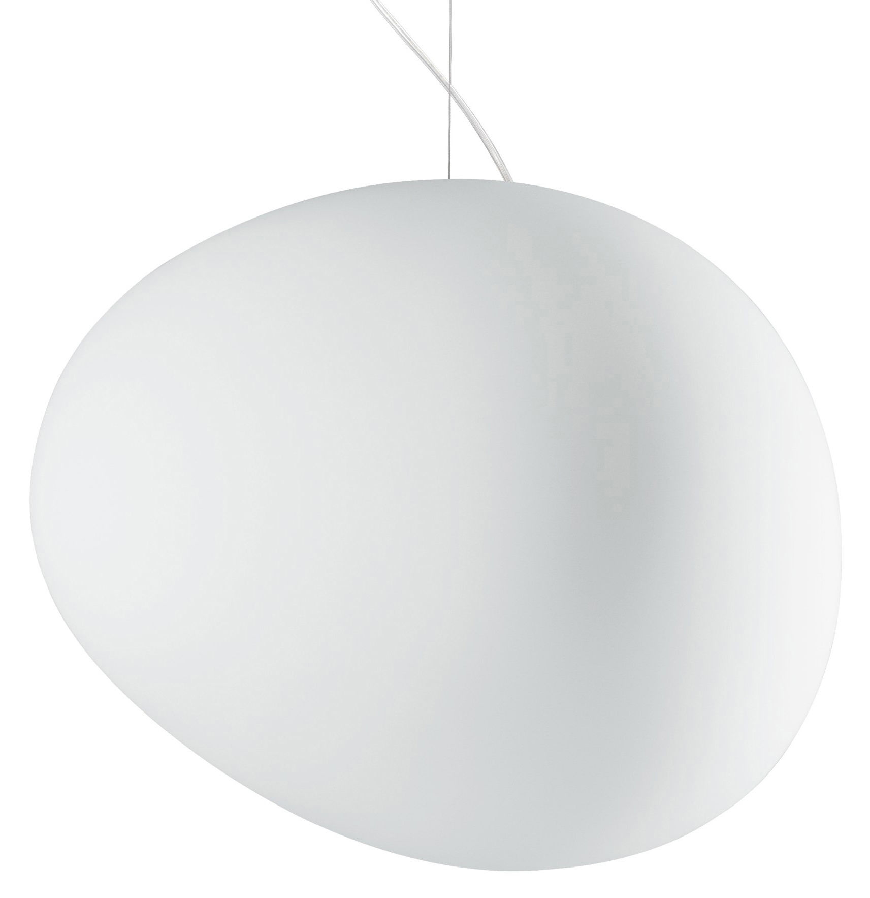 Luminaire - Suspensions - Suspension Gregg Grande / Verre - Foscarini - L 47 cm / Blanc - Verre soufflé