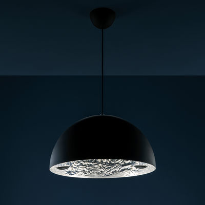 Suspension Stchu-moon 02 / LED - Ø 40 cm - Cuillères - Catellani & Smith noir,argent en métal