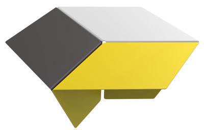 Table basse Kuban / H 25 cm - Matière Grise blanc,jaune,anthracite en métal