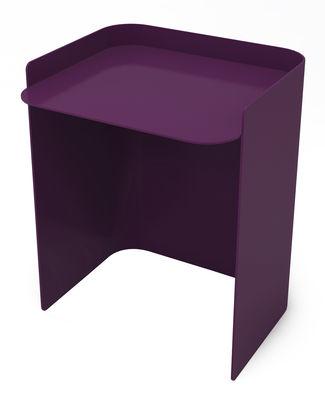 Table d'appoint Flor / Medium - H 42 cm - Matière Grise aubergine en métal
