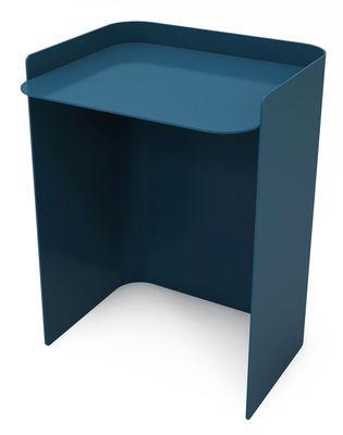 Table d'appoint Flor / Large - H 49 cm - Matière Grise bleu canard en métal