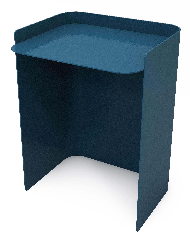 table d 39 appoint flor mati re grise bleu made in design. Black Bedroom Furniture Sets. Home Design Ideas