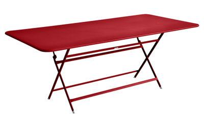 Table pliante Caractère / 90 x 190 cm - 8 à 10 personnes - Fermob coquelicot en métal