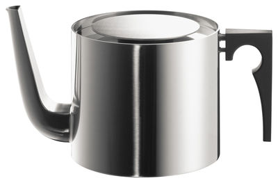 Tableware - Tea & Coffee Accessories - Cylinda Line Teapot by Stelton - Satin polished steel - 1,25 L - Bakelite, Polished stainless steel