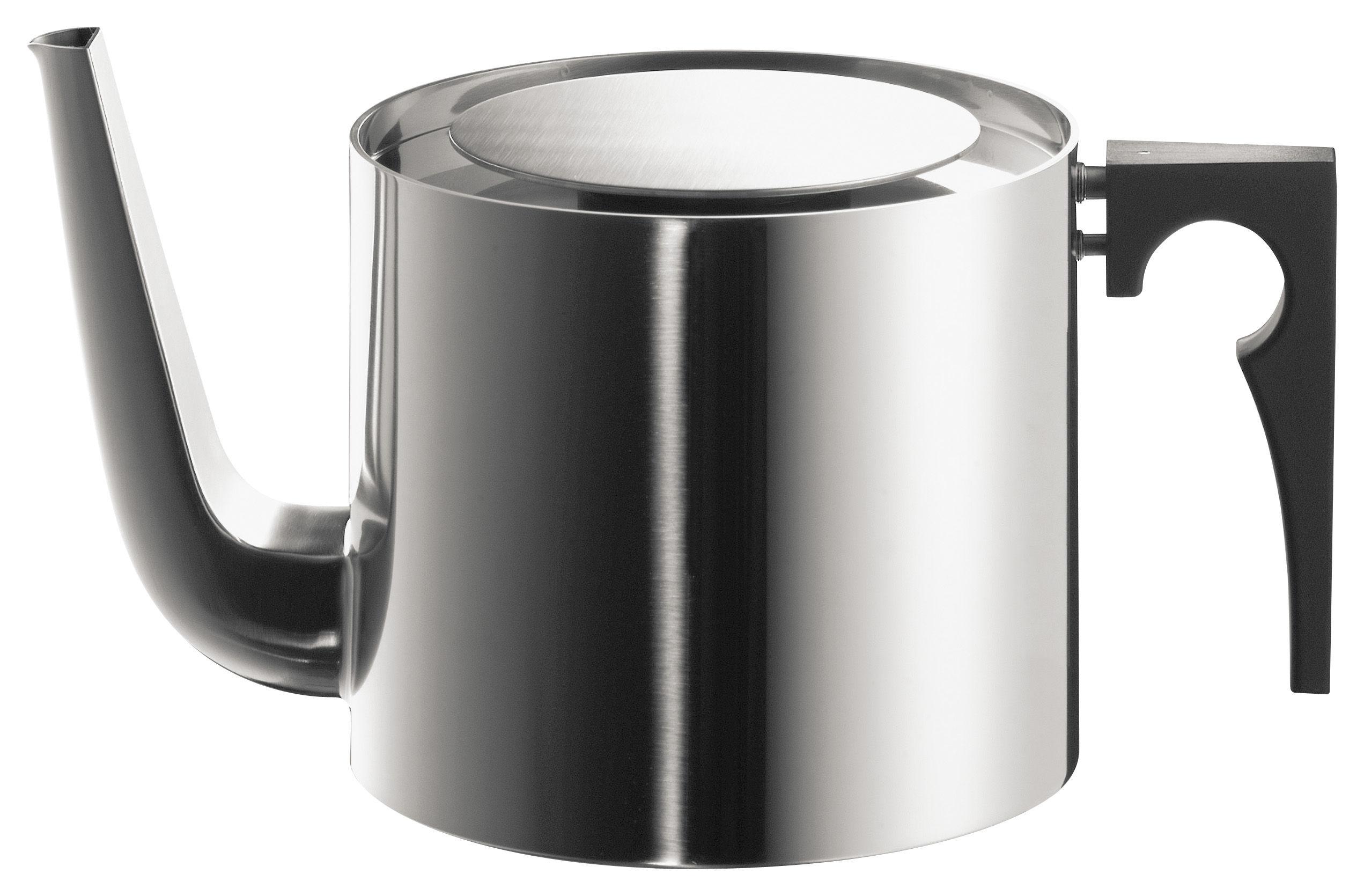 Tischkultur - Tee und Kaffee - Cylinda Line Teekanne - Stelton - 1,25 l / Edelstahl - Bakelit, polierter rostfreier Stahl