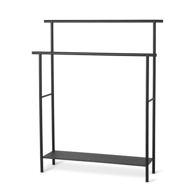 Furniture - Miscellaneous furniture - Dora Towel rail - / L 72.5 x H 88 cm by Ferm Living - Black - Metal powder coating