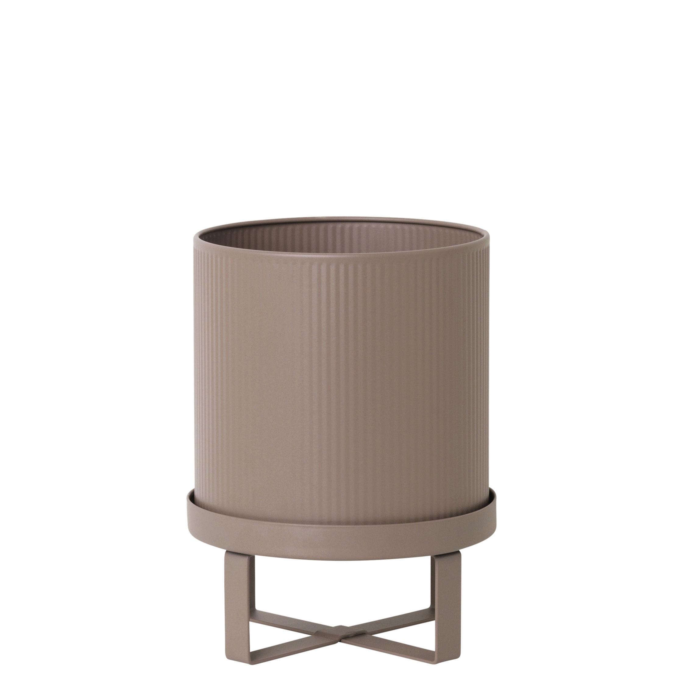 Outdoor - Vasi e Piante - Vaso per fiori Bau Small - / Ø 18 cm - Metallo di Ferm Living - Rosa antico - Acciaio galvanizzato