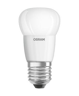 Ampoule LED E27 avec radiateur / Sphérique dépolie - 5W=40W (2700K, blanc chaud) - Osram blanc en verre