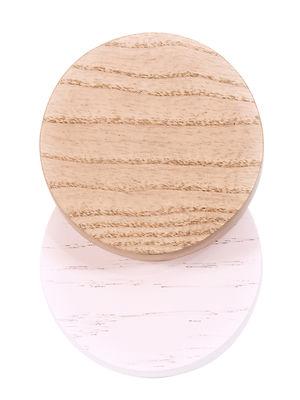 Arredamento - Appendiabiti  - Gancio Lou /  Ø 7 cm - Hartô - Quercia naturale / Rosa pastello - Faggio massello