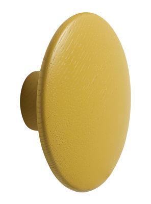 Arredamento - Appendiabiti  - Gancio The dots / Medium - Ø 13 cm - Muuto - Giallo senape - Frassino tinto