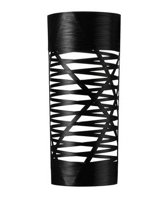 Luminaire - Appliques - Applique Tress / H 59 cm - Foscarini - Noir - Fibre de verre, Matériau composite