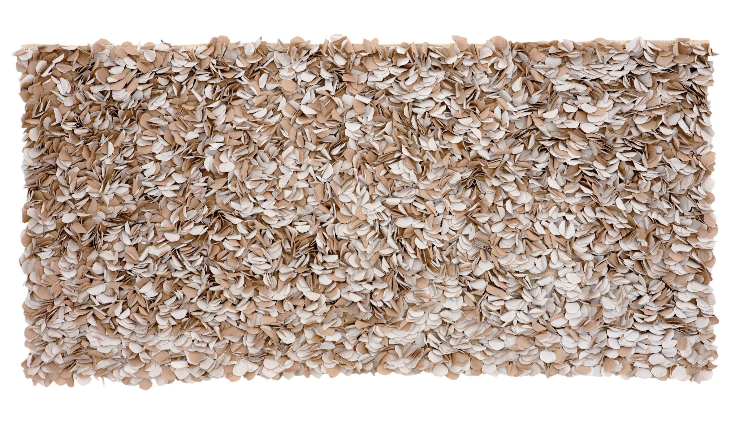Möbel - Betten - Testa  Double-side Bettkopf - Nanimarquina - Blütenblätter in zwei Farben: natur / hellbraun - Baumwolle
