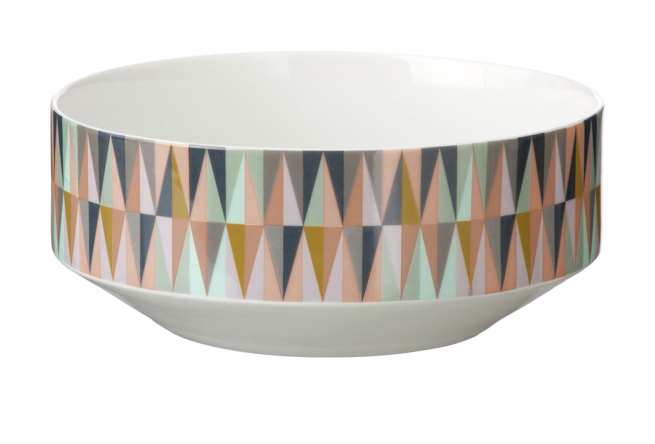 Tableware - Fruit Bowls & Centrepieces - Spear Bowl by Ferm Living - Multicolored & white - China