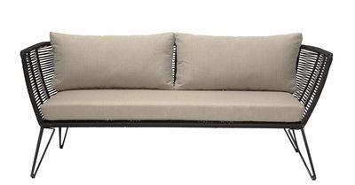Canapé droit Mundo / L 175 cm - Intérieur & extérieur - Bloomingville noir,taupe en tissu