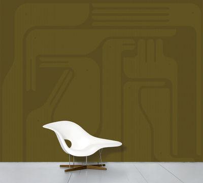 Interni - Sticker - Carta da parati panoramica WallpaperLab Mirage Olive - / Panoramica - 8 strisce - Edizione limitata di Domestic - Mirage (Miraggio) / Giallo oliva - Tessuto non tessuto