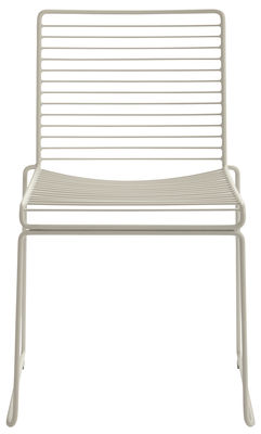 Chaise empilable Hee / Métal - Hay beige en métal