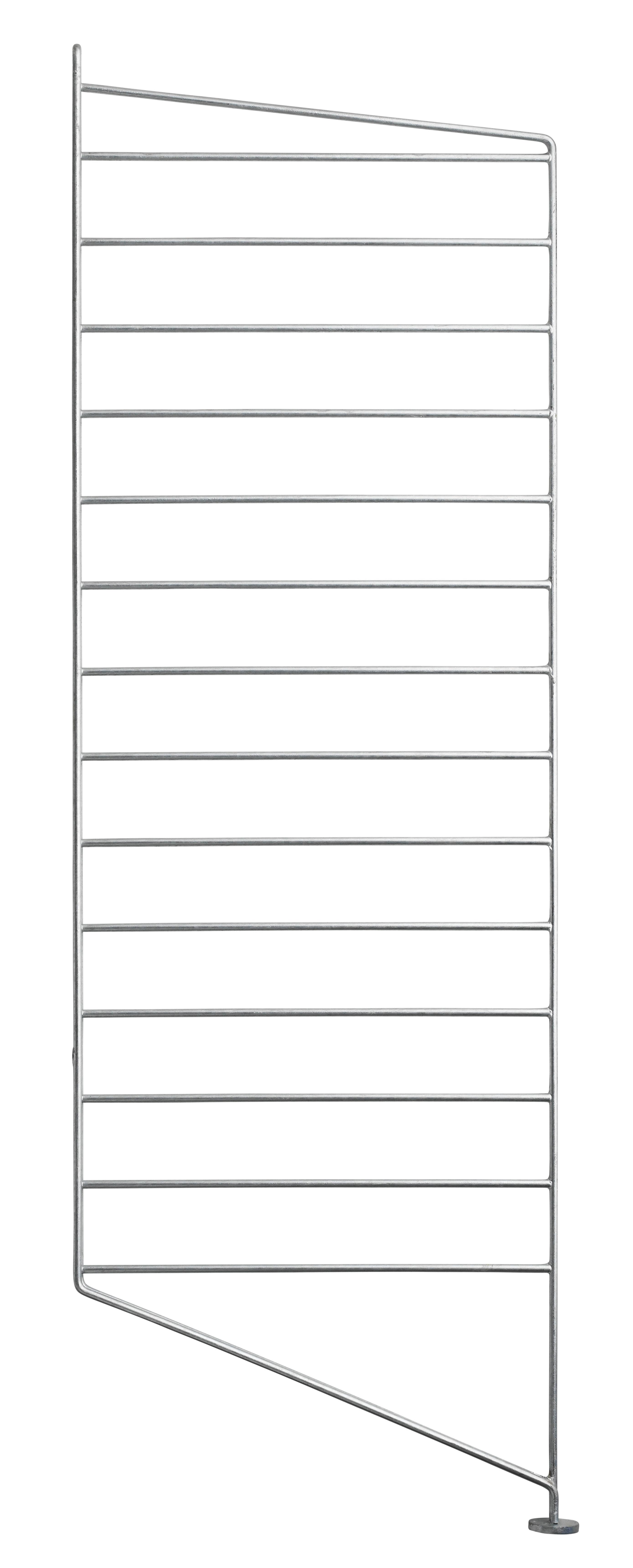 Furniture - Bookcases & Bookshelves - String Outdoor Floor mount - / Galvanised steel - H 85 x D 30 cm - individual unit by String Furniture - Single unit / Galvanised - Galvanized steel
