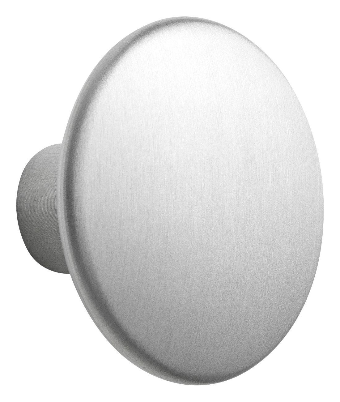 Furniture - Coat Racks & Pegs - The Dots Metal Hook - Large - Ø 5 cm by Muuto - Aluminium - Aluminium