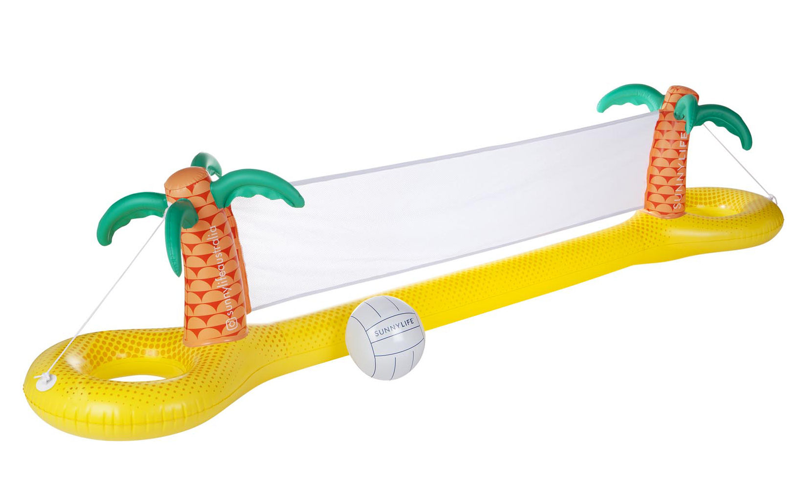 Decoration - Children's Home Accessories - Tropical Inflatable volleyball game - / Floating by Sunnylife - Yellow & green - High resistance PVC