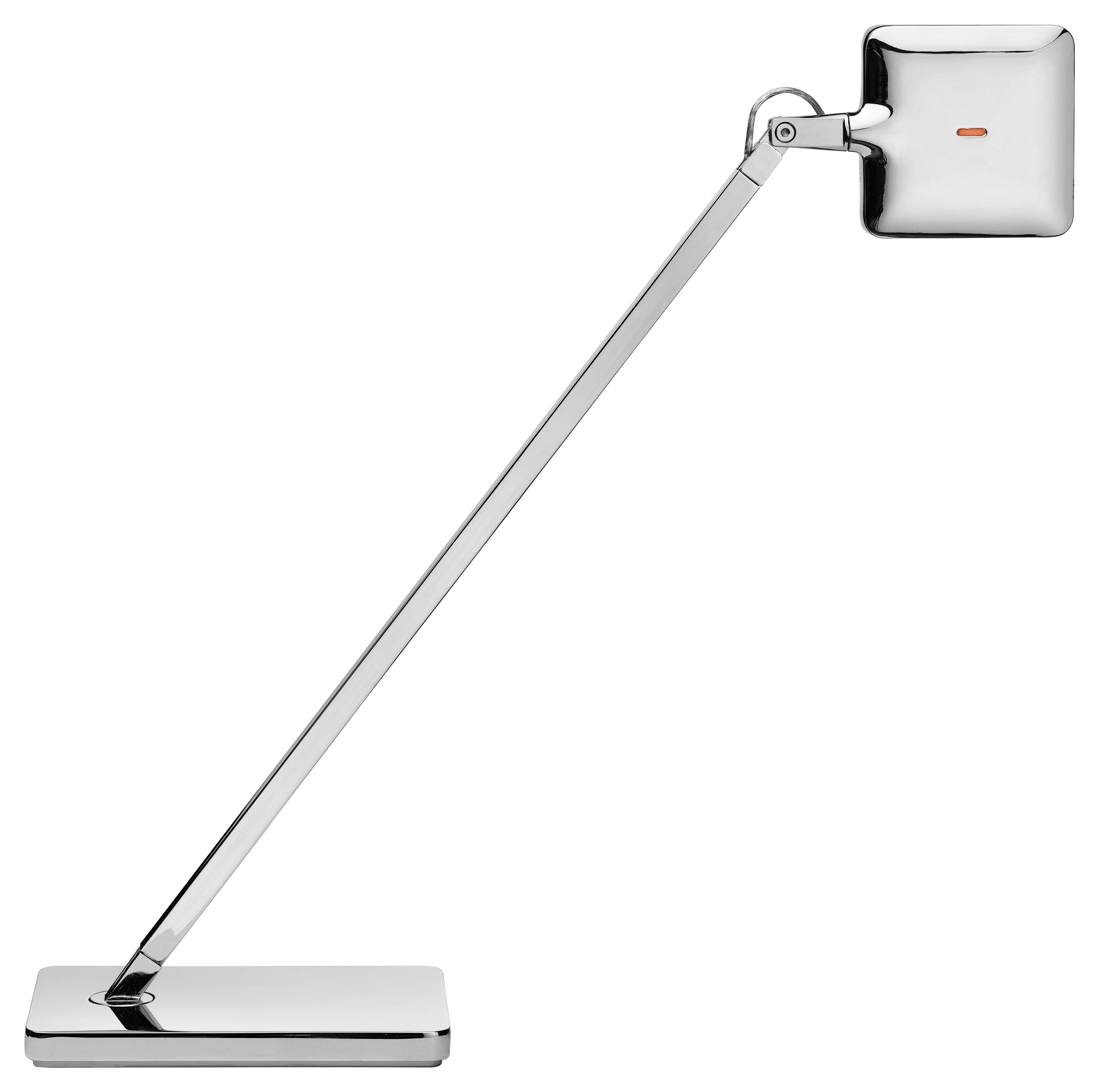 Illuminazione - Lampade da tavolo - Lampada da tavolo Mini Kelvin LED di Flos - Cromato - Ghisa di alluminio, Metacrilato