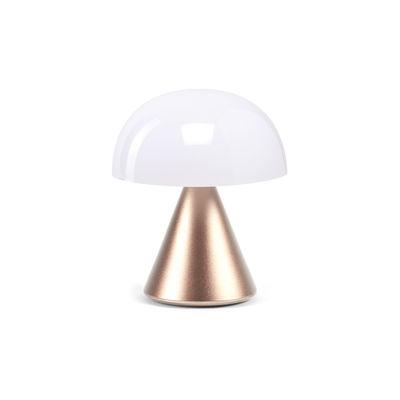 Illuminazione - Lampade da tavolo - Lampada senza fili Mina Mini - / LED - H 8,3 cm / INDOOR di Lexon - Or doux - ABS, Alluminio