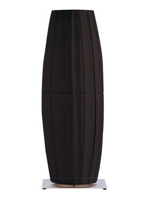Lampe de sol Colonne / H 66 cm - Tissu - Dix Heures Dix noir,métal mat en tissu