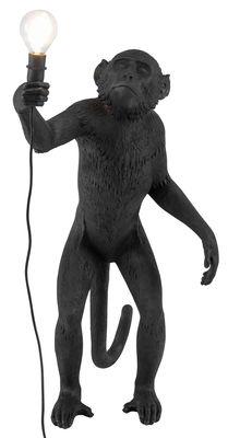 Luminaire - Lampes de table - Lampe de table Monkey Standing / Outdoor - H 54 cm - Seletti - Noir - Résine