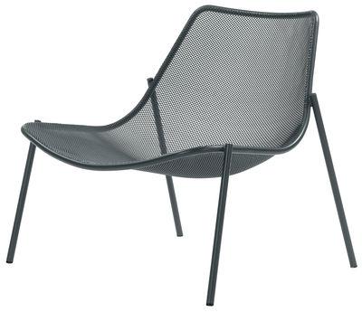 Möbel - Lounge Sessel - Round Lounge Sessel - Emu - Eisen (dunkel) - Stahl