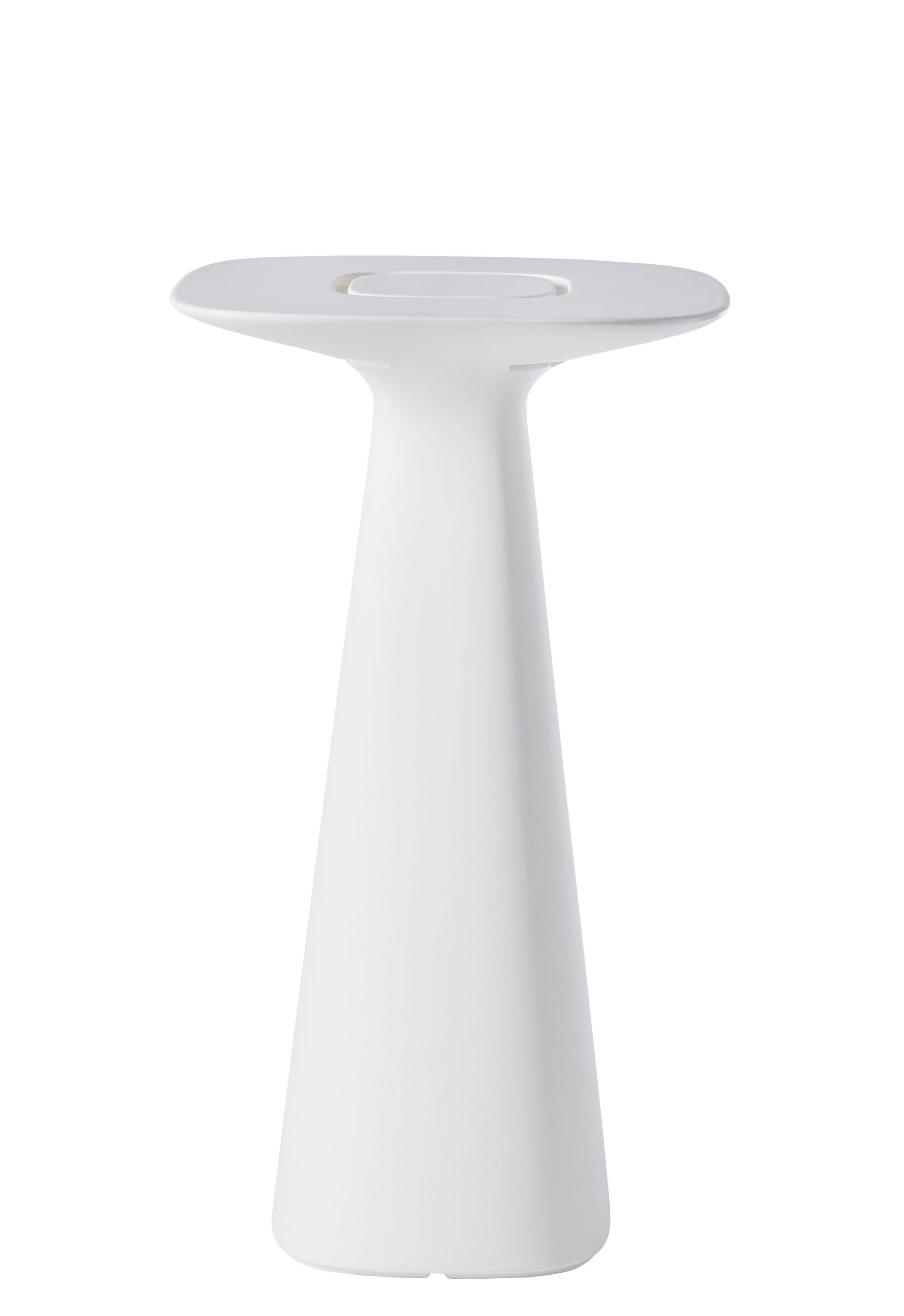 Mobilier - Mange-debout et bars - Mange-debout Amélie Up / 61 x 61 x H 110 cm - Slide - Blanc - polyéthène recyclable