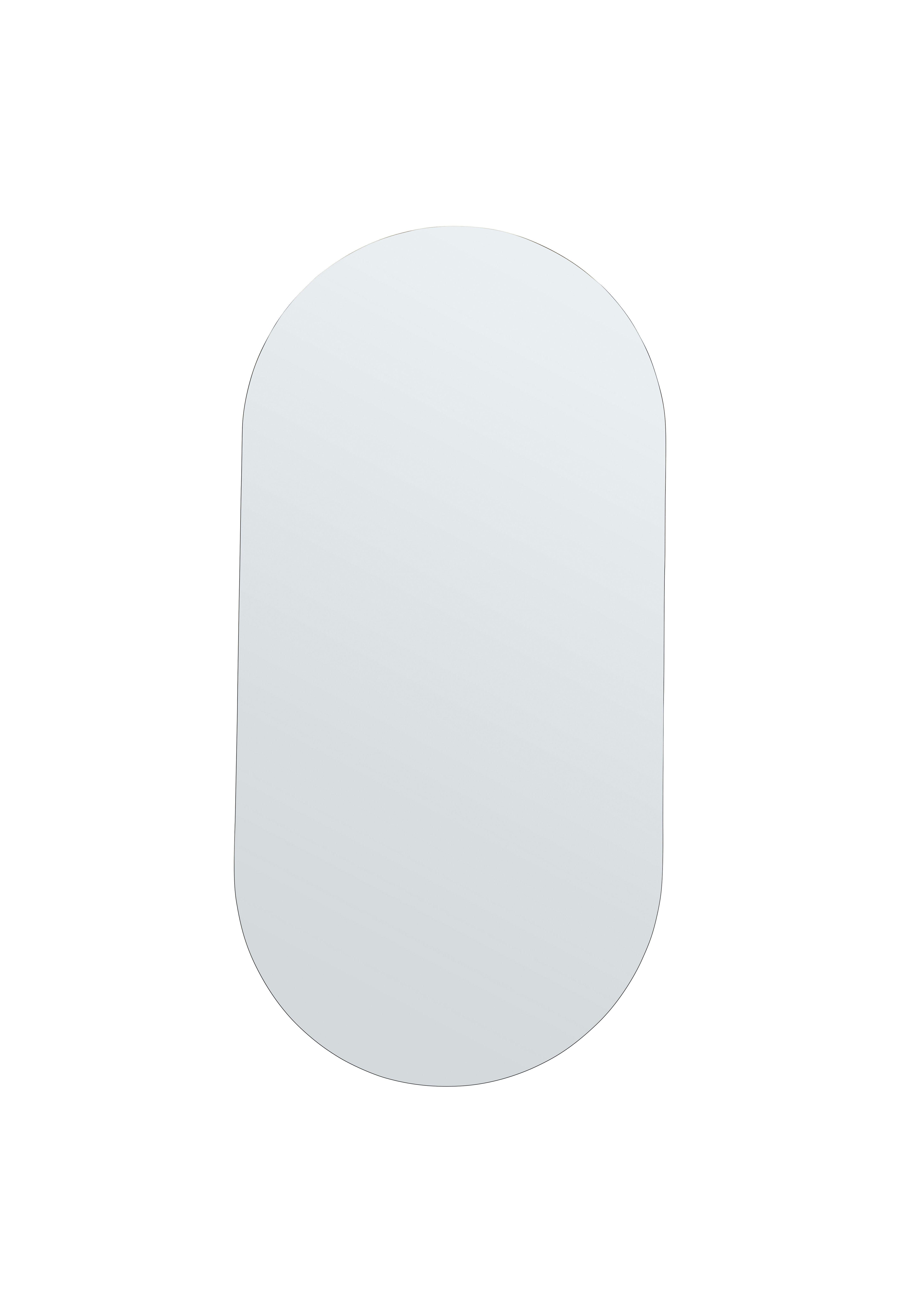 Déco - Miroirs - Miroir mural Walls Medium / L 50 x H 100 cm - House Doctor - 50 x 100 cm - Fer, MDF, Verre
