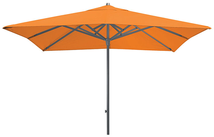 Outdoor - Parasols - Easy Track Parasol - / 250 x 250 cm by Vlaemynck - 250 x 250 cm / Tangerine - Acrylic cloth, Epoxy steel