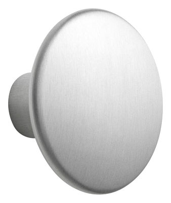 Patère The Dots Metal / Large - Ø 5 cm - Muuto gris/argent/métal en métal