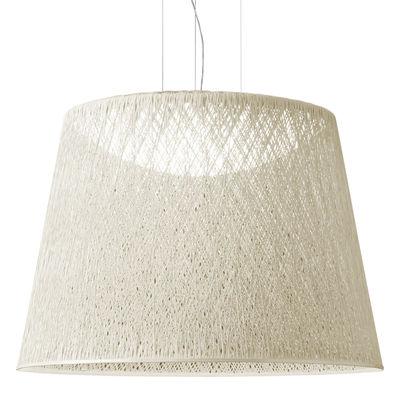 Lighting - Pendant Lighting - Wind Pendant - / Ø 60 x H 48 cm by Vibia - White - Fibreglass, Methacrylate