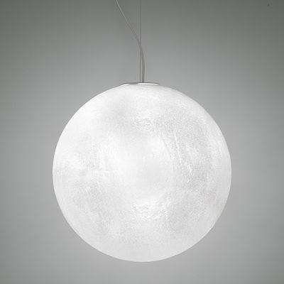 Murano Pendelleuchte / Ø 50 cm - Kunststoff in Raureif-Glasoptik - Slide - Translucide givré
