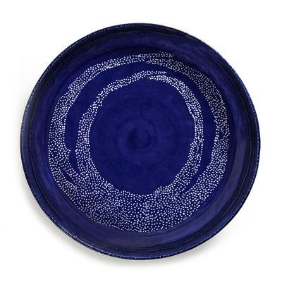 Plat de service Feast Medium / Ø 36 x H 6 cm - Serax bleu en céramique