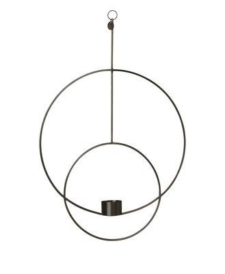 Interni - Candele, Portacandele, Lampade - Portacandela da sospendere Circular - / L 30 x H 45 cm di Ferm Living - Nero - Ottone verniciato