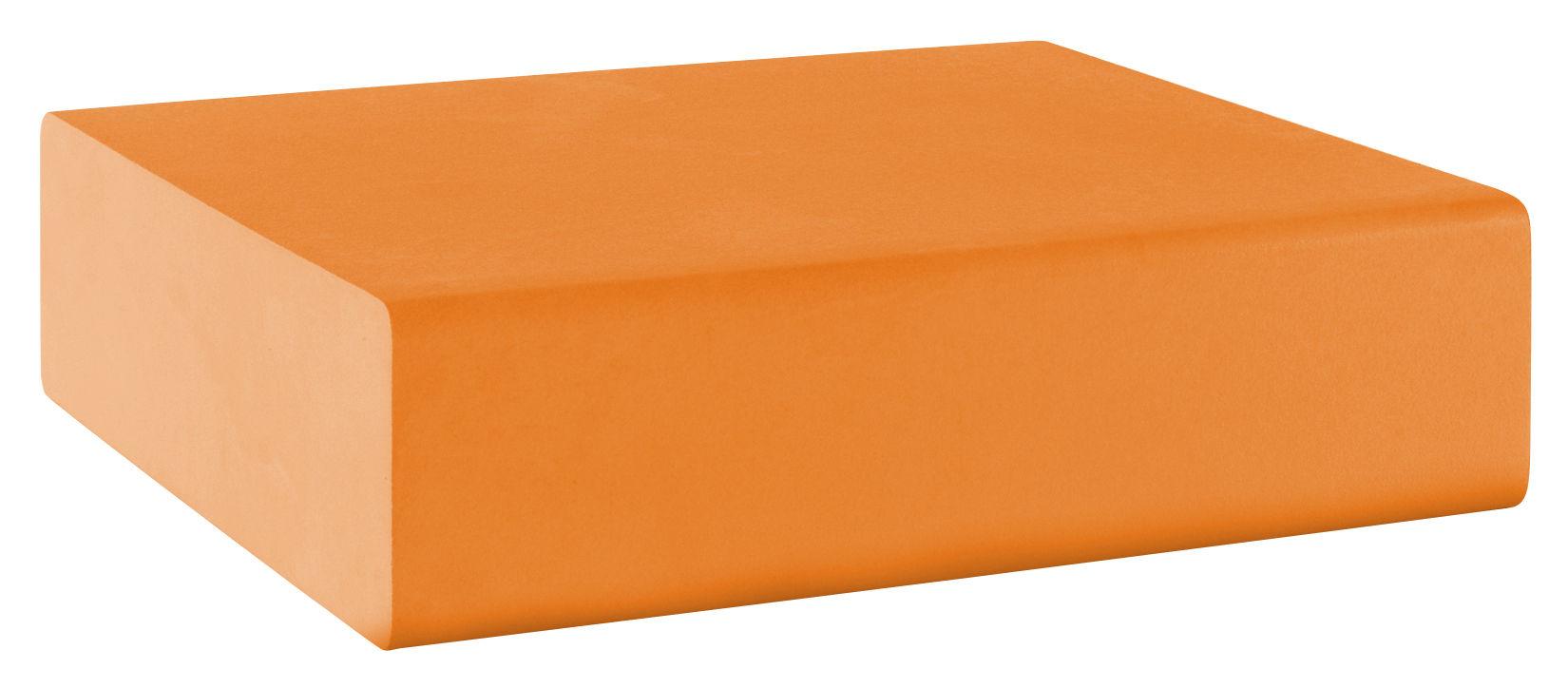 Arredamento - Mobili Ados  - Pouf Matrass Mat 75 di Quinze & Milan - Arancione - Schiuma di poliuretano