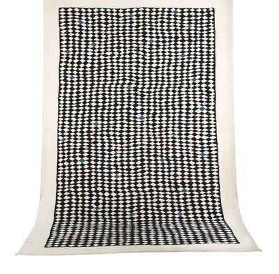 Decoration - Rugs - Atrium Rug - / 200 x 300 cm by Maison Sarah Lavoine - Black & white / Blue - Cotton, Wool