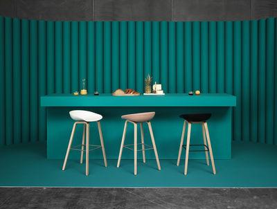 Scopri sgabello alto about a stool h 75 cm grigio gambe in
