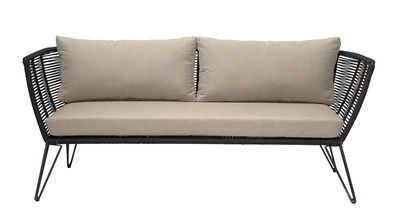 Metal Sofa / L 175 cm - für Haus, Terrasse und Garten - Bloomingville - Schwarz,Taupe