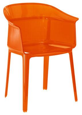 Möbel - Stühle  - Papyrus Stapelbarer Sessel - Kartell - Orangerot - Polykarbonat
