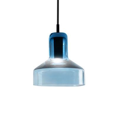 Suspension Stab Light Small / Ø 13 x H 14 cm - Verre artisanal - Danese Light aquamarine en verre
