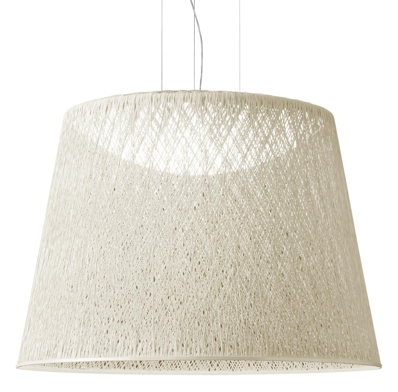 Luminaire - Suspensions - Suspension Wind / Ø 60 x H 48 cm - Vibia - Blanc - Fibre de verre, Méthacrylate