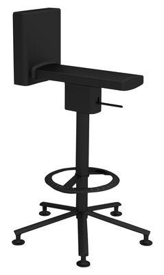 Furniture - Bar Stools - 360° Swivel bar stool - Pivoting - Wheels by Magis - Black - Polyurethane, Varnished steel