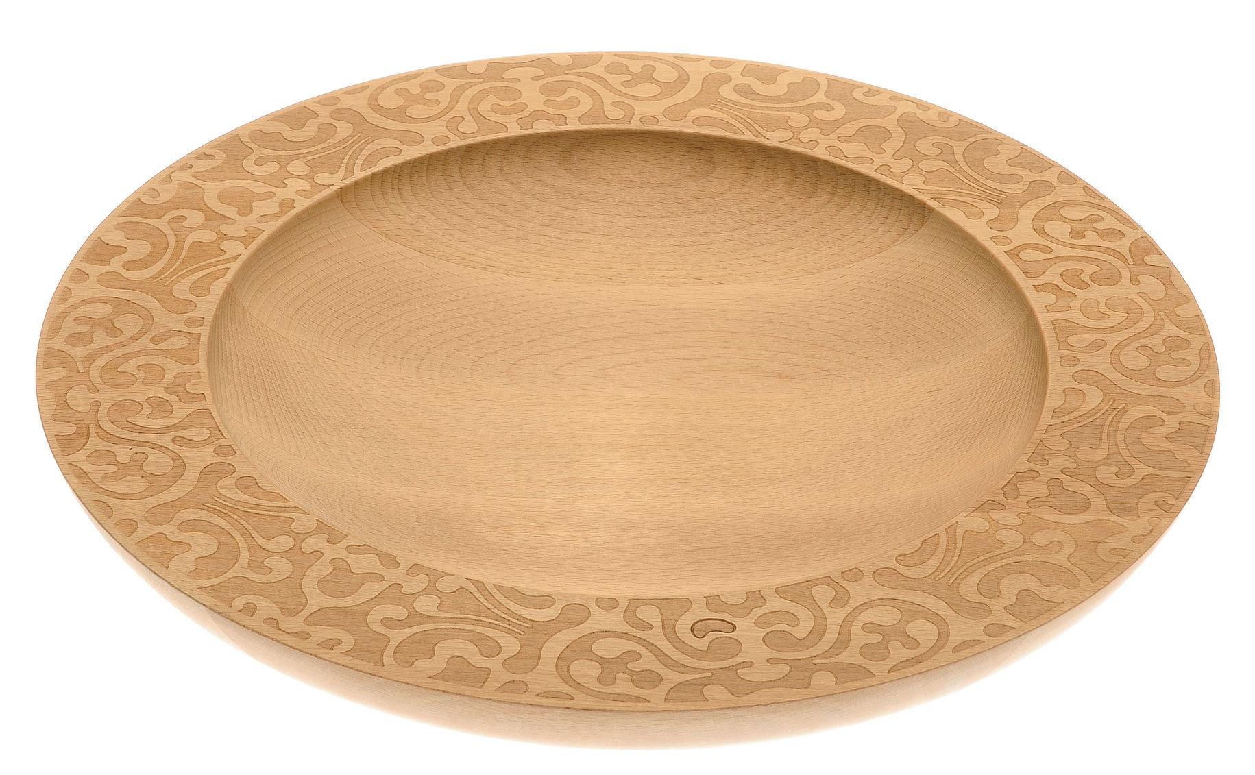 Tischkultur - Körbe, Fruchtkörbe und Tischgestecke - Dressed in Wood Tischgesteck / Ø 39 cm - Alessi - Holz natur - Buchenfurnier