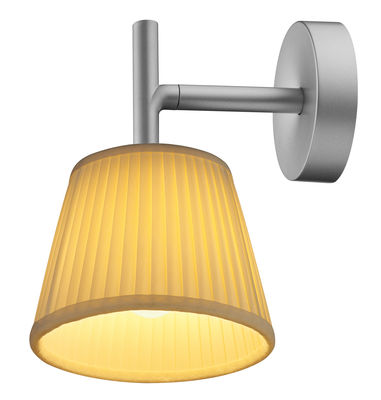 Lighting - Wall Lights - Romeo Soft W Wall light - Tissue version by Flos - Transparent Glass - Fabric