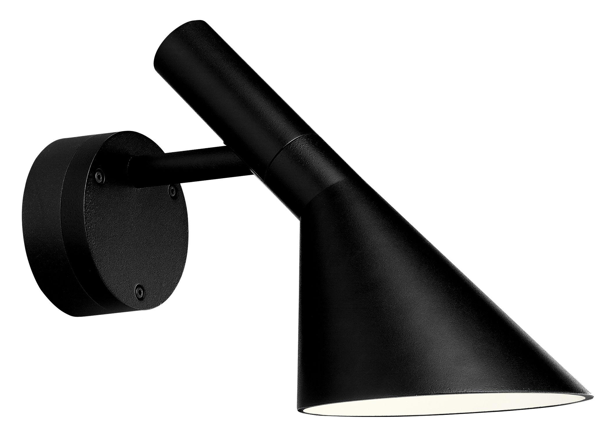 Luminaire - Appliques - Applique AJ 50 LED / pour l'extérieur - Louis Poulsen - Noir granité - Fonte d'aluminium