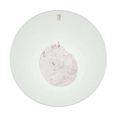 Illuminazione - Lampade da parete - Applique Gioia Large - / LED - Ø 68 cm / Marmo di Foscarini - Vert / Marbre blanc - Acciaio, Marmo, Plexiglas