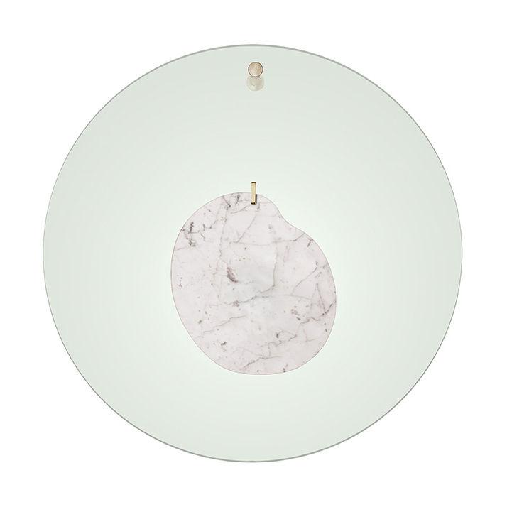 Luminaire - Appliques - Applique Gioia Large / LED - Ø 40 cm / Marbre & plexiglas - Foscarini - Vert / Marbre blanc - Acier, Marbre, Plexiglas